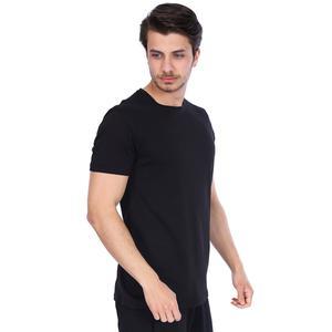 Spo-Basic Erkek Siyah Günlük Stil Tişört 710200-00B-S