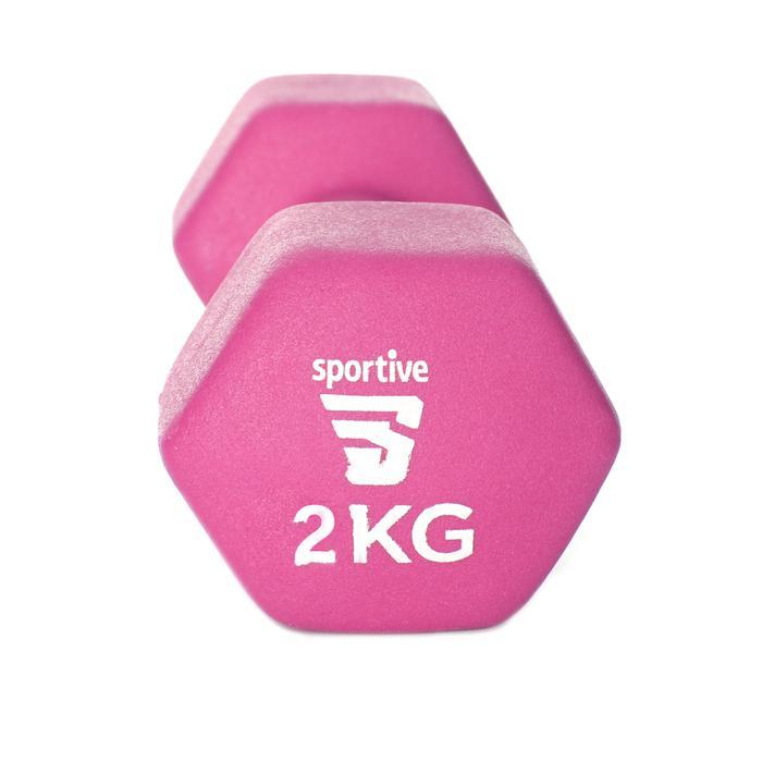 Neopren 2 Kg Unisex Pembe Yoga - Pilates Dambıl SPT-2802V 1190921