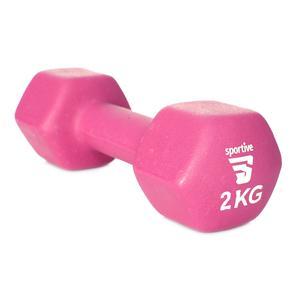 Neopren 2 Kg Unisex Pembe Yoga - Pilates Dambıl SPT-2802V