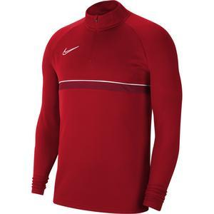 M Nk Df Acd21 Dril Top Erkek Kırmızı Futbol Uzun Kollu Tişört CW6110-657