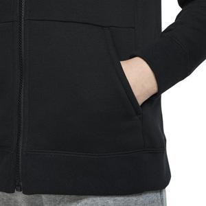 Pe Full Zip Çocuk Siyah Günlük Stil Uzun Kollu Tişört BV2712-010