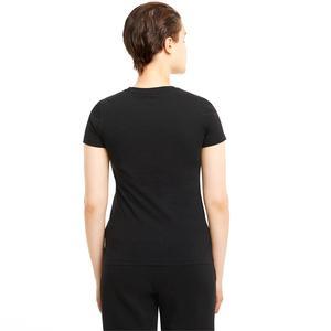 Ess+ Metallic Logo Tee Kadın Siyah Günlük Stil Tişört 58689051