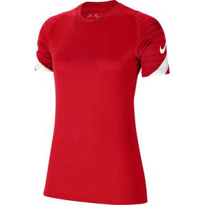 W Nk Df Strke21 Top Ss Kadın Kırmızı Futbol Tişört CW6091-657