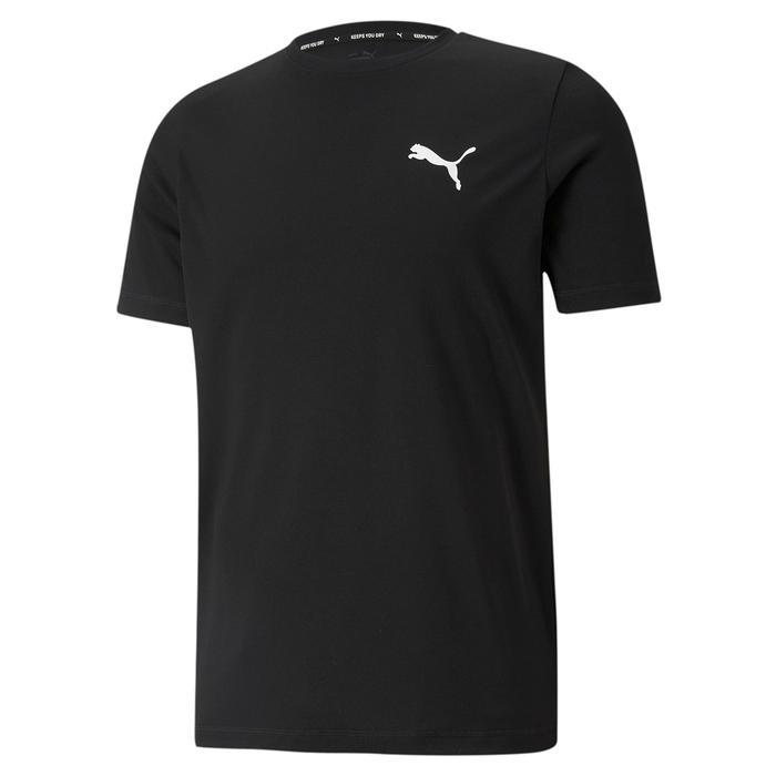 Active Small Logo Tee Erkek Siyah Günlük Stil Tişört 58672501 1218093