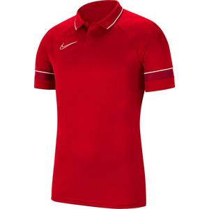 Y Nk Df Acd21 Polo Ss Çocuk Kırmızı Futbol Polo Tişört CW6106-657