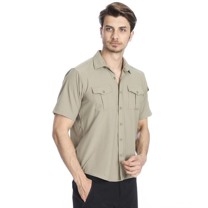 Spo-Safkisshirt Erkek Bej Koşu Gömlek 710116-0LT-SP 1279657