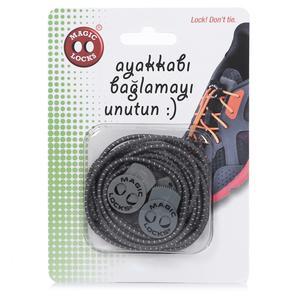 Magic Locks Unisex Pembe Gri Ayakkabı Bağcığı 7A1