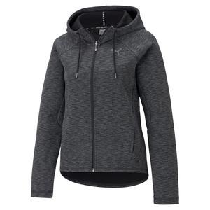Evostripe Full-Zip Hoodie Kadın Siyah Günlük Stil Sweatshirt 58594501
