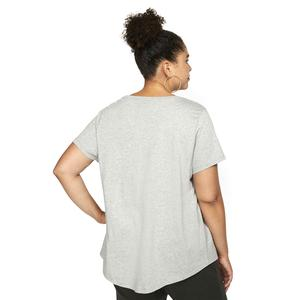 W Nsw Tee Essntl Futura Plus Kadın Gri Günlük Stil Tişört CJ2301-063