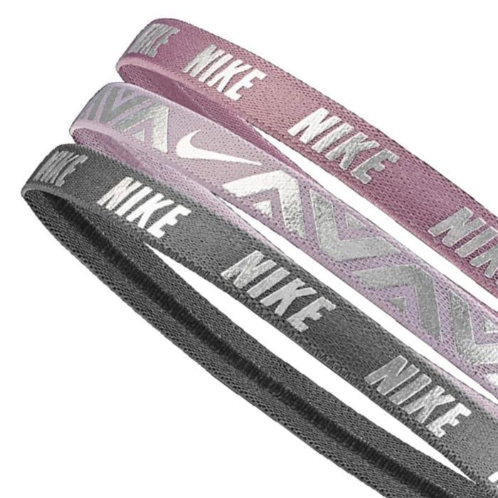 Printed Metallic Headbands Assorted 3Pk Unisex Mor Antrenman Saç Bandı N.000.2504.917.OS 1042394