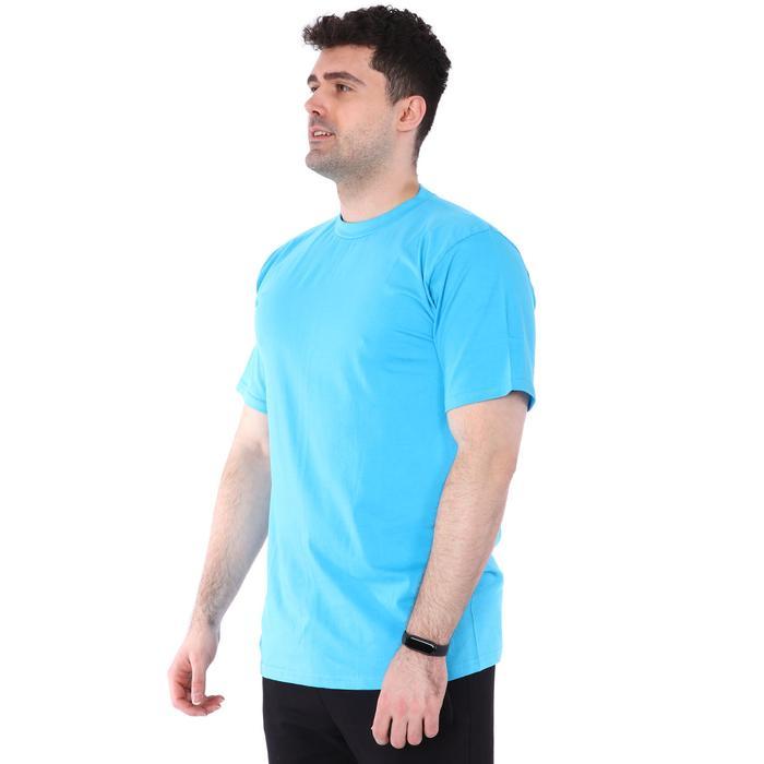 Basic Erkek Mavi Günlük Stil Tişört 060020021TRK1 95689