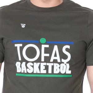 Tofaş Erkek Haki Basketbol Tişört TKT100104-HKI-TOF