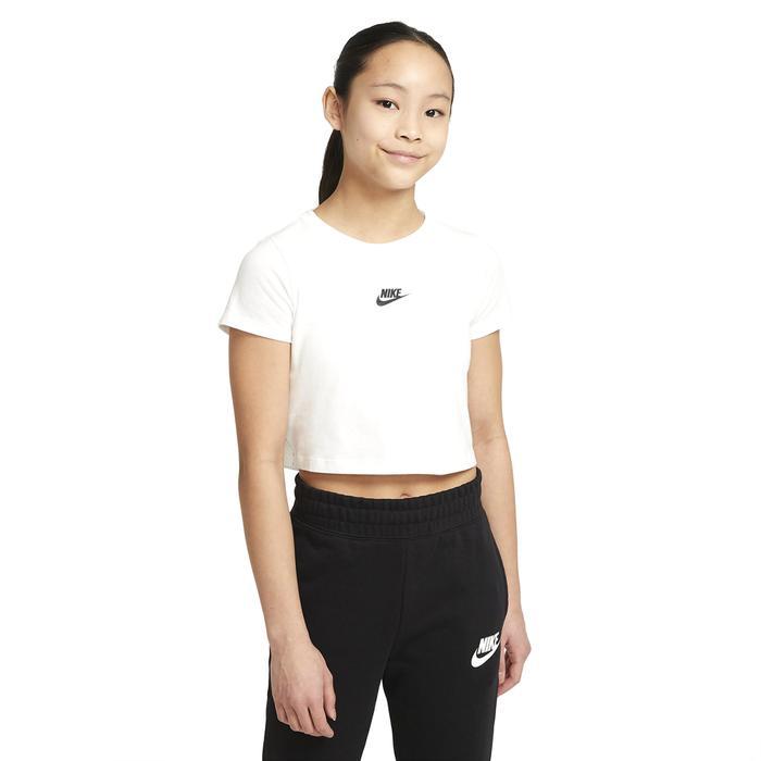 G Nsw Repeat Crop Tee Çocuk Beyaz Günlük Stil Tişört DJ4017-100 1286683