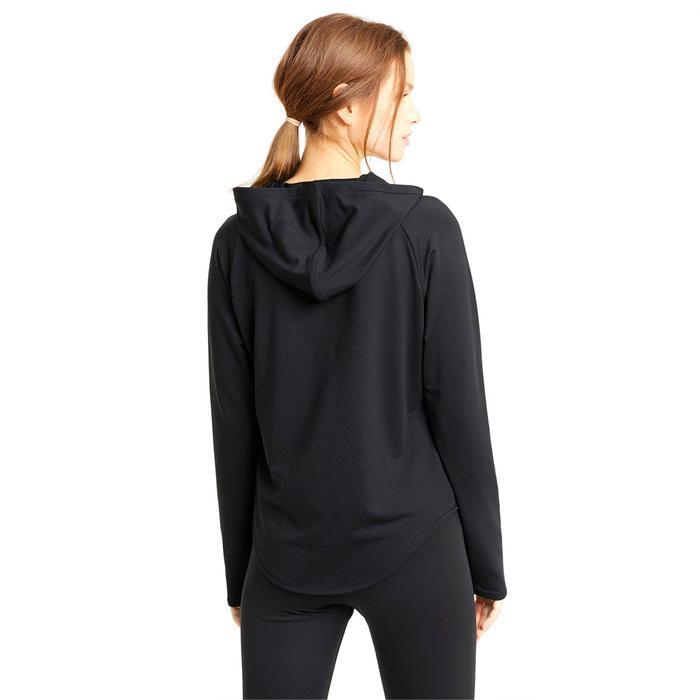Active Hoodie Kadın Siyah Günlük Stil Sweatshirt 58685801 1218197