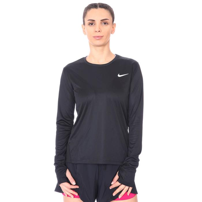 Miler Top Ls Kadın Siyah Koşu Uzun Kollu Tişört AJ8128-010 1112578