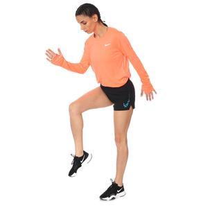W Nk Miler Top Ls Kadın Turuncu Koşu Uzun Kollu Tişört AJ8128-854