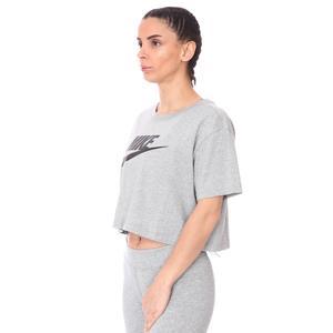 W Nsw Tee Essntl Crp icn Ftr Kadın Gri Günlük Stil Tişört BV6175-063