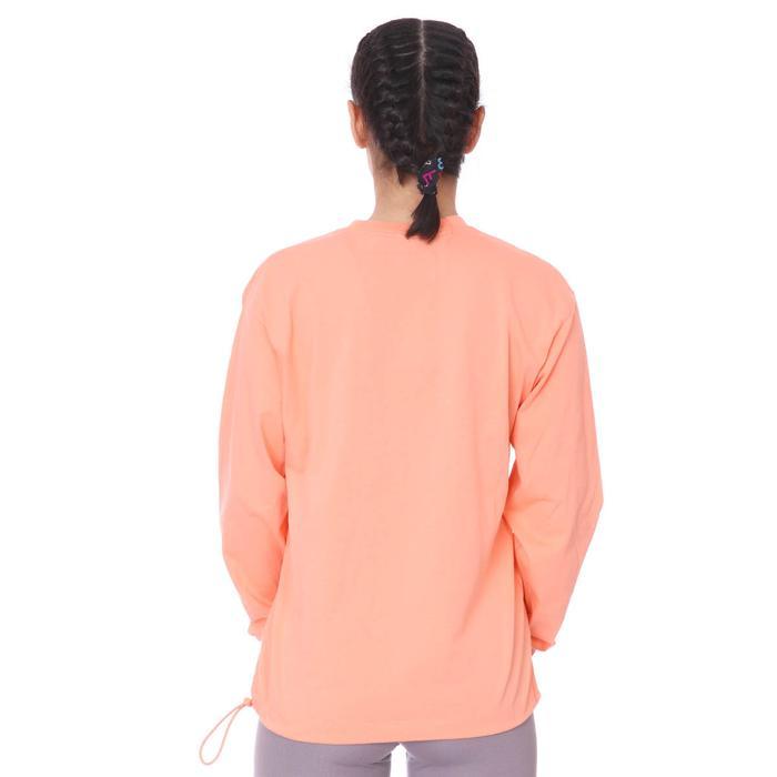 W Nsw Icn Clsh Ls Top Hbr Kadın Pembe Günlük Stil Uzun Kollu Tişört DC5294-693 1273150