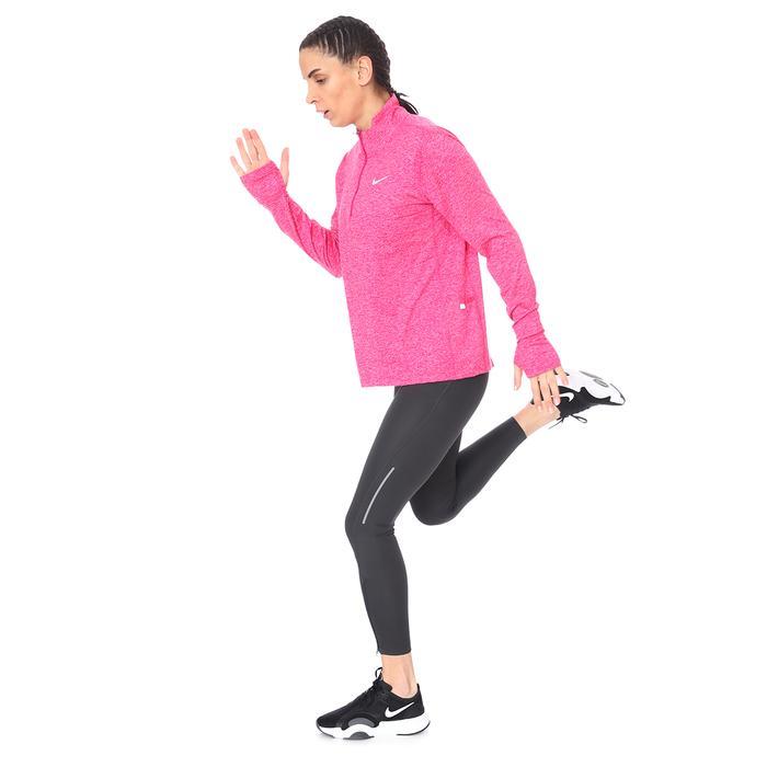 W Nk Df Element Top Hz Kadın Pembe Koşu Uzun Kollu Tişört CU3220-615 1274284