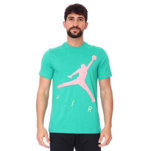 Air Jordan NBA Jumpman Air Hbr Ss Crew Erkek Yeşil Basketbol Tişört CV3425-372