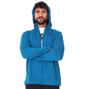 M Nk Df Hdie Fz Fl Erkek Mavi Antrenman Sweatshirt CZ6376-301