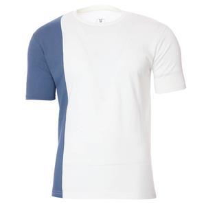 2 Colored Tee Erkek Beyaz Günlük Stil Tişört 712201-BYZ