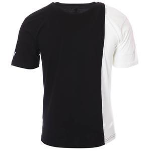 2 Colored Tee Erkek Siyah Günlük Stil Tişört 712201-SYH