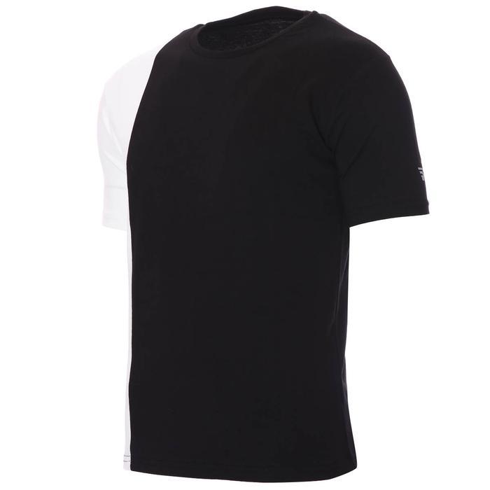 2 Colored Tee Erkek Siyah Günlük Stil Tişört 712201-SYH 1280577