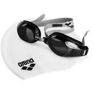 Pool Set Unisex Gri Yüzücü Bone & Gözlük Seti 9242255