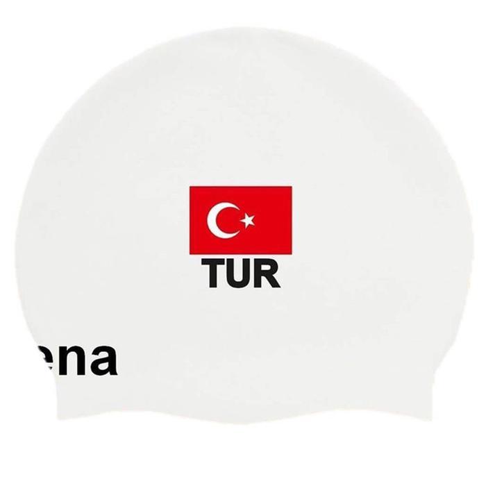 Moulded Turkey Flag Unisex Beyaz Yüzücü Bone 1E668E 1078576