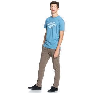 Wider Mile Ss Erkek Mavi Günlük Stil Tişört EQYZT06328-BLF0