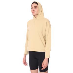 Spo-Firbolcropnewtop Kadın Bej Günlük Stil Sweatshirt 712106-BEJ