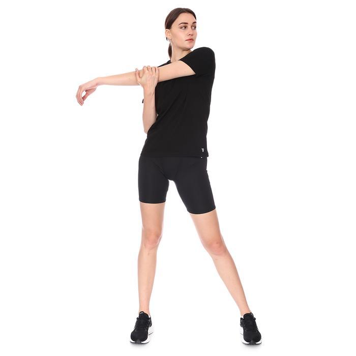 Spo-Assymetric Tee Kadın Siyah Günlük Stil Tişört 712107-SYH 1280780