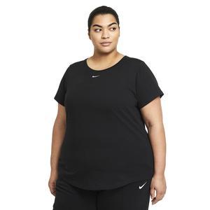 W Nsw Esnt Tee Ss Crw Lbr Plus Kadın Siyah Günlük Stil Tişört DD3556-010