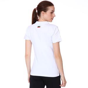 Karşıyaka Kadın Beyaz Basketbol Polo Tişört TKY100137-BYZ