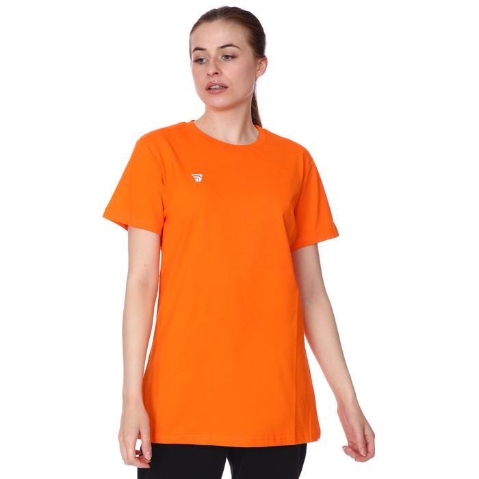 Basic Kadın Turuncu Günlük Stil Tişört TKC100105-TRN 1227777