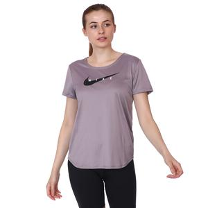W Nk Swoosh Run Top Ss Kadın Mor Koşu Tişört CZ9278-531