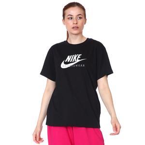 W Nsw Heritage Ss Top Hbr Kadın Siyah Günlük Stil Tişört CZ8612-010