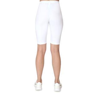 SPT Kadın Beyaz Günlük Stil Biker Tayt TKY100147-BYZ