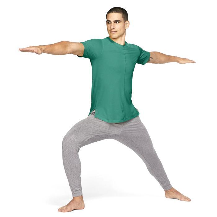 M Nk Df Top Ss Yoga Erkek Yeşil Antrenman Tişört BV4034-370 1285619