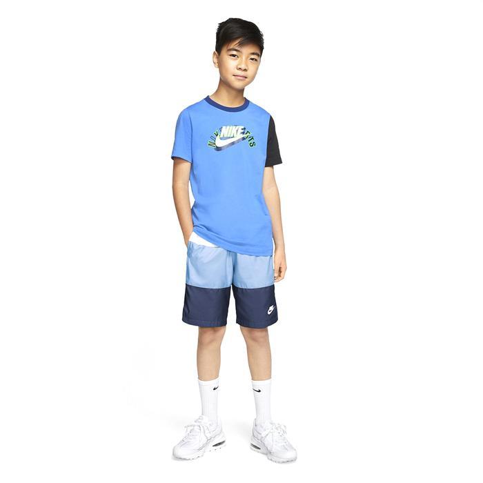 B Nsw Short Woven Block Çocuk Beyaz Günlük Stil Şort CW1021-101 1284914