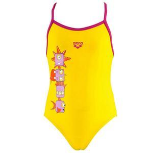 Kg Gill Kids One Piece Çocuk Sarı Yüzücü Mayosu 1A48739
