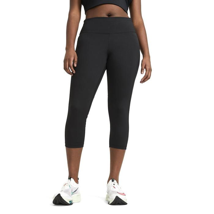 W Nk Df Fast Crop Plus Kadın Siyah Koşu Tayt DC6915-010 1285525