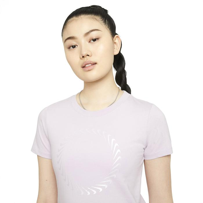 W Nsw Tee Icon Clash Kadın Mor Günlük Stil Tişört DD1230-576 1286502
