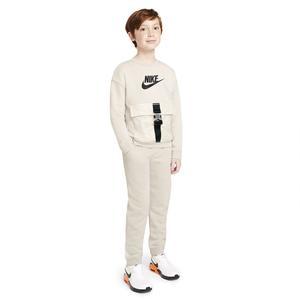 B Nsw Rtl Utility Flc Top Çocuk Siyah Günlük Uzun Kollu Tişört DA0567-008