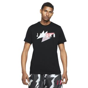 M Jordan Jumpman Air Wm Ss Crew NBA Erkek Siyah Basketbol Tişört CZ8303-010