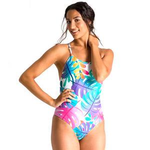 W Twist Back Reversible One Piece Kadın Pembe Yüzücü Mayosu 003058901