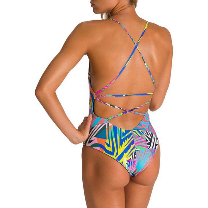 W Twist Back Reversible One Piece Kadın Gri Yüzücü Mayosu 003058560 1145536