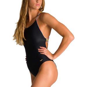 W Twist Back Reversible One Piece Kadın Gri Yüzücü Mayosu 003058560