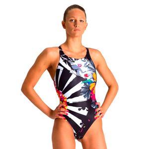 W Arena One Akina Swim Pro One Piece Kadın Çok Renkli Yüzücü Mayosu 002822105